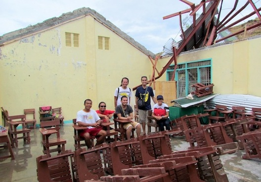 We also visited the island's elementary school at the hilltop and sadly all rooms are roofless.