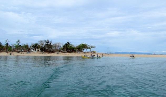 Malalison shoreline as we were leaving the island.