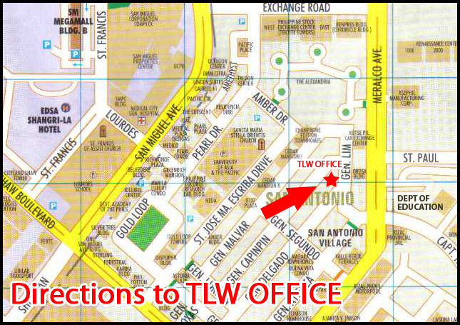 Directions to TLW Office